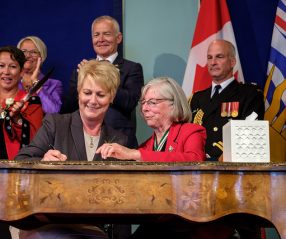 Katrine Conroy, sworn in by Lieutenant Governor Hon. Judith Guichon on July 18, 2017.